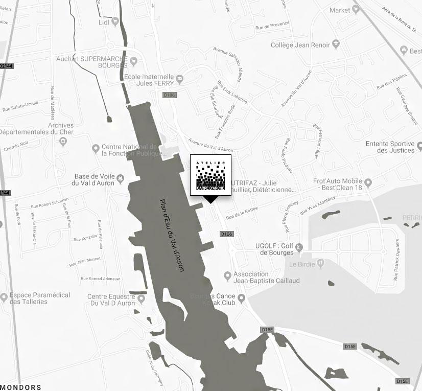 Localisation Atelier Carré d'Arche